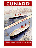 Cunard Ocean Liner Giclee Print