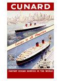 Cunard Ocean Liner Giclee Print