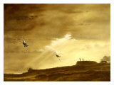 RAF Spitfire ME109 Dog Fight Giclee Print by Bill Northup