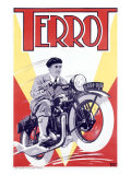 Terrot Motorcycle Reproduction procédé giclée