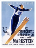 42nd French Snow Ski Championship Giclee Print