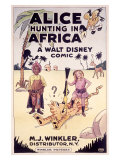 Alice Hunting in Africa, a Walt Disney Comic Giclee Print