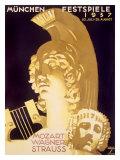 Munich Music Festival, c.1937 Giclée-tryk af Ludwig Hohlwein