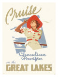 Canadian Pacific Oceanline Lakes Reproduction proc&#233;d&#233; gicl&#233;e