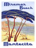 Santa Barbara Miramar Beach Giclee Print