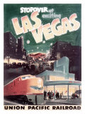 Union Pacific, Stopover in Las Vegas Giclee Print