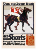 Golden Book of Sports, Horse Polo Reproduction procédé giclée par Ludwig Hohlwein