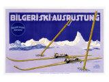 Austrian Bilgeri Ski Reproduction procédé giclée