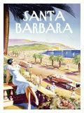 Santa Barbara Beach Resort Giclée-Druck