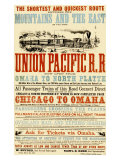 Union Pacific, Chicago to Montana Giclee Print