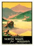 North Wales Snowdonia Holiday Giclee Print