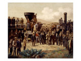 Union Pacific, Central Pacific, Spike Giclee Print by George Martin Ottinger