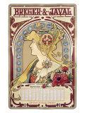 Breger Javal Calendar Giclee Print by Alphonse Mucha