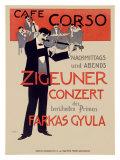 Cafe Corzo Violin Concert Giclee Print