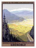 Grenoble, French Alps Ski Resort Giclee Print