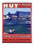 Belgium City Huy Giclee Print