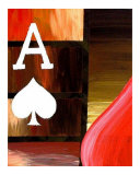 Abstract Red Ace Of Spades Giclee Print by Teo Alfonso