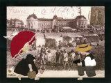 Jeanne a la Plage Kunstdrucke von Diane Ethier