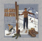 Le Ski Alpin Psters por Bruno Pozzo