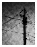 Abstract Pole And Wires Photographic Print by Matthew  T Tourtellott