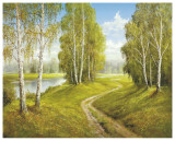 Romantic Pathway Posters af Helmut Glassl