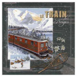 Le Train des Neiges Prints by Bruno Pozzo