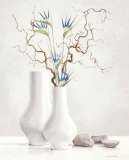 Willow Twigs with Blue Flowers Posters by Karin Valk