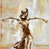 Flamenco I Art by Monica Galvan