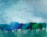 Cows I Posters by Gisela Funke
