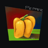 Yellow Pepper Art by Mary Naylor