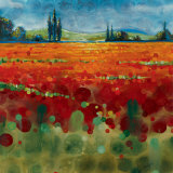 Spring Meadows II Print by Selina Werbelow