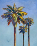 Santa Rita Palms I Posters by Paul Brent