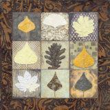 Leaf Mosaic I Poster by Carolyn Holman