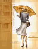 Rain Milano Posters by Andrea Laliberte