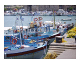 Small boat harbor at Heraklion, Crete Photographic Print by Jim Stanfield