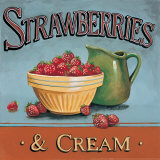Strawberries and Cream Prints by Gregory Gorham