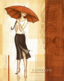 Rain London Prints by Andrea Laliberte