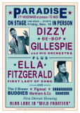Dizzy Gillespie and Ella Fitzgerald at Paradise, Detroit, 1947 Prints by Dennis Loren