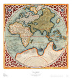 Terra Major II Print by Gerardus Mercator