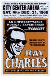 Ray Charles in der City Center Arena, Seattle, 1966 Poster von Dennis Loren