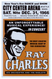 Ray Charles alla City Center Arena, Seattle, 1966, in inglese Poster di Dennis Loren