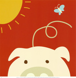 Peek-a-Boo IV, Pig Poster by Yuko Lau