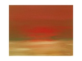 Red Sunset Giclee Print by Kenny Primmer