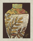 Sumach Leaf Pottery Prints by Ronald Thompson