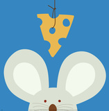 Souris, Peek-a-Boo V Poster par Yuko Lau