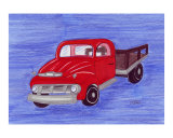 Little Red Truck Giclee Print by Leighann Hill