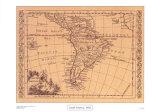 South America, 1802 Prints