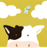 Peek-a-Boo III, Cow Posters av Yuko Lau