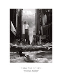 Swell Time in Town Print by Thomas Barbey