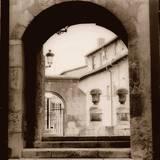 Courtyard in Burgos Print by Alan Blaustein